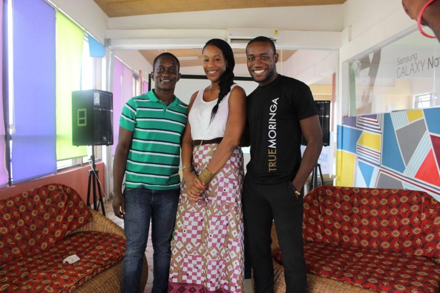 (L-R) Spotlight Nominees Kofi Amponsah, Madonna Kendona-Sowah, Kwami Williams