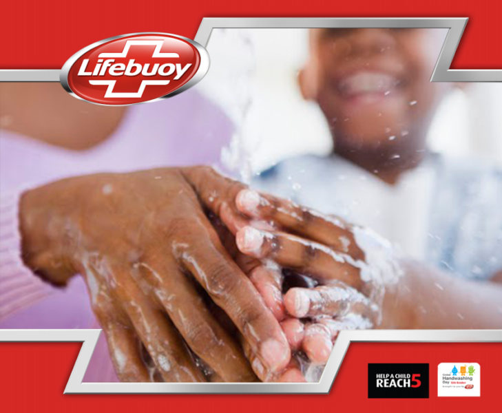 Handwashing with Lifebuoy