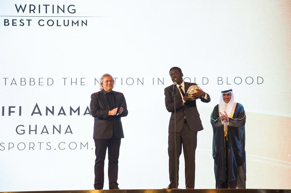 Ghanaian sports journalist Fiifi Anaman