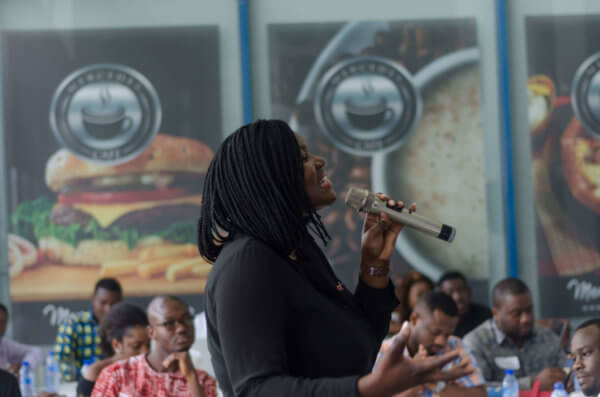 Anita Erskine at the Future Executives Business Breakfast Meeting on Digital Marketing